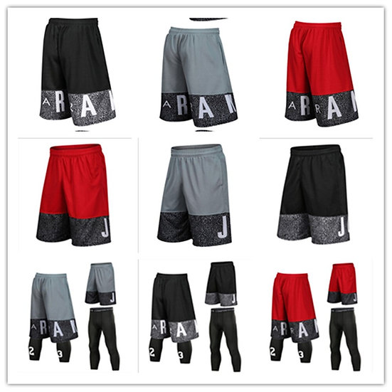 Men Basketball Sets Sport Gym QUICK-DRY Workout Board Shorts   Tights for Male