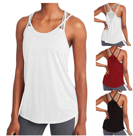 Woman T-shirt For Fitness Sports Wear Women Gym Shirt Sport Yoga Top Tank Open B
