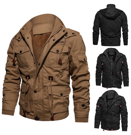 Winter Military Jacket Men Casual Thick Thermal Coat Army Pilot Jackets Air Forc