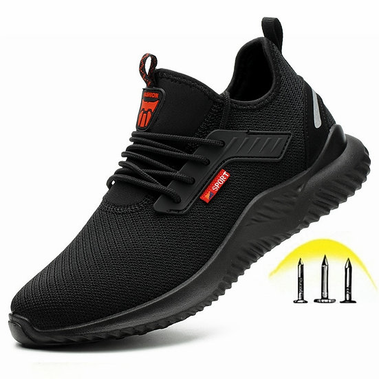 Indestructible Shoes Men Safety Work Shoes With Steel Toe Cap Puncture-Proof