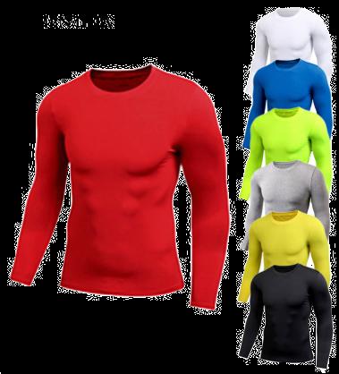 Puimentiua Spring Men's Pure Color Sports Tight Elastic Sweating Quick Drying Lo