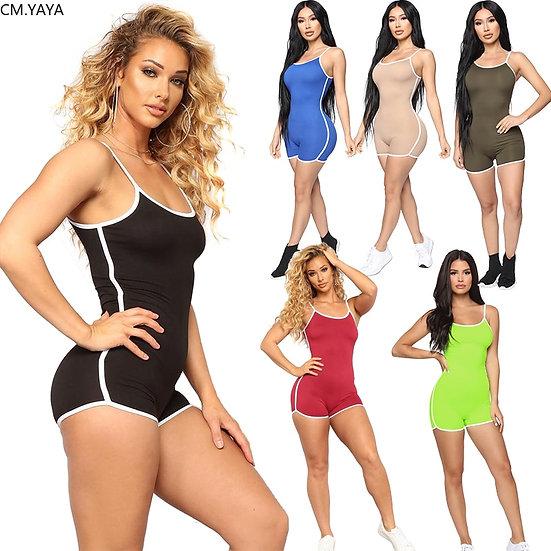 S-5xl Women Summer Bodysuits Strap Sexy Sleeveless Sporty Rompers Street Night