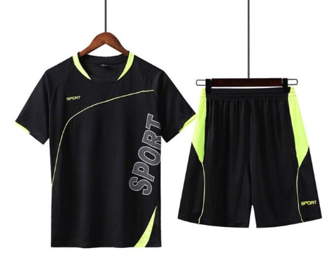 2020 Summer Men's Sports Sets Tracksuit Clothing Print Male Shorts + T shirt Men