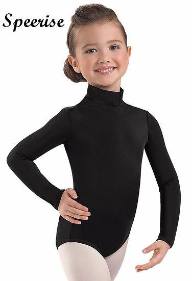 Speerise Girls  Spandex Long Sleeve Turtleneck Leotard Ballet Gymnastics Leotard