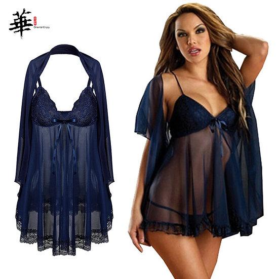 3pcs Lingerie Set Transparent Lingerie Plus Size 6XL Sexy Lingerie for Women