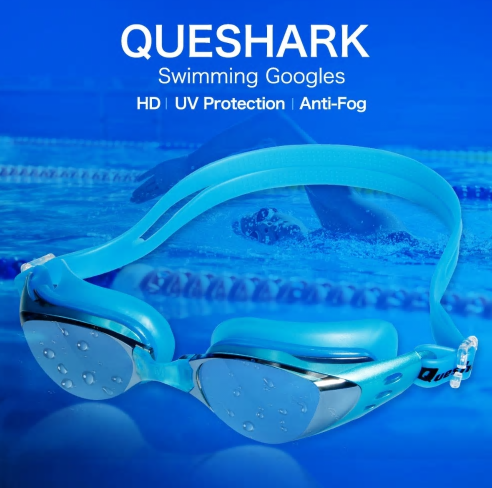 Men Women Swim Glasses Anti Fog UV Protection Swim Eyewear Professional Electrop