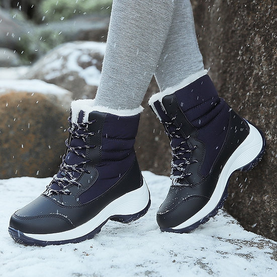 Snow Boots Plush Warm Ankle Boots for Women Winter Shoes Waterproof Boots Women