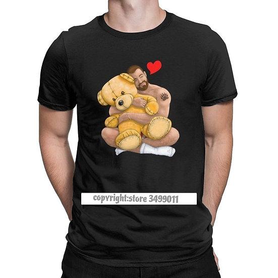 Funny Bear Hug T-Shirt Men Crew Neck Premium Cotton T Shirts Gay Bear Art Pride