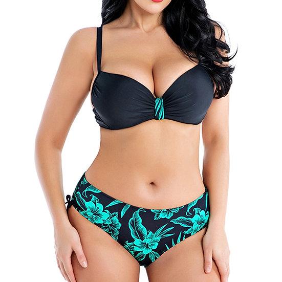 2020 Swimwear Push Up Bathing Suit Plus Size Swimsuit Solid Large Size Bikinis