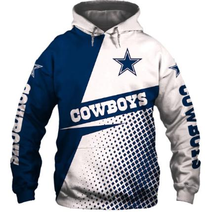 Usa Size Autumn Male Casual Hoodies Dallas 3d Print Football Loose Sweatshirts C