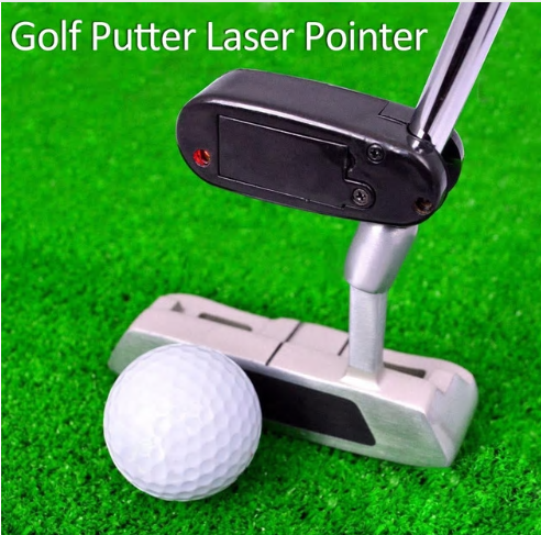 Black Golf Putter Laser Pointer Putting Training Aim Line Corrector Improve Aid