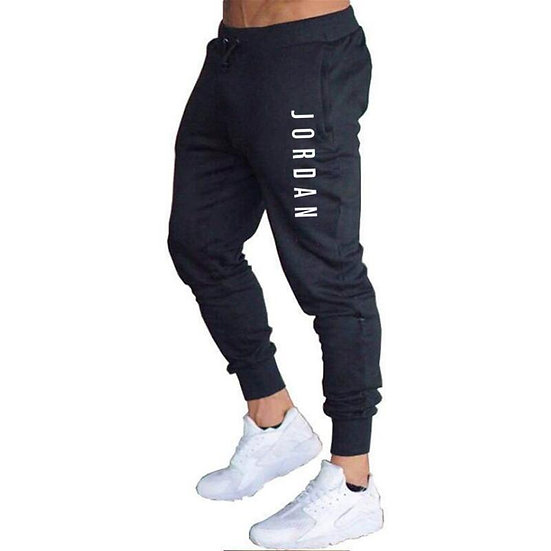 Men Casual  Pants Long Trousers Tracksuit Gym Sport Workout Joggers Solid