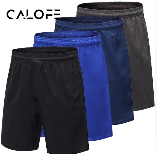 CALOFE New Running Shorts Men Compression Quick Dry Fitness Gym Tight Sport Shor