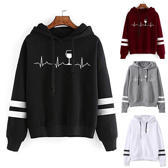 Harajuku Hooded Sweats Long Sleeve Autumn Warm Women's Clothing Teens Girls