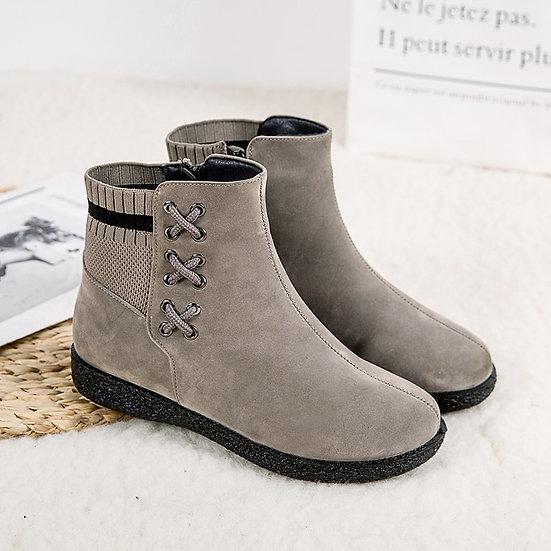 Ankle Boots for Women Winter Boots Women Plush Warm Boots Women Boots Female Zip