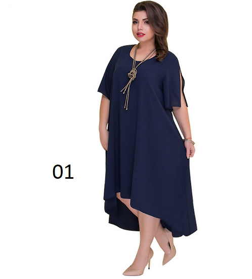 Casual Loose Plus Size Summer Dresses Women Irregular Long Dress Big Size V