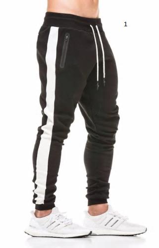 New Spring Jogger Pants Men Cotton Patchwork Sweatpants Fitted Sweat Pants Activ