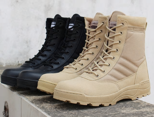 Men desert military tactical boots male Outdoor waterproof hiking shoes sneakers