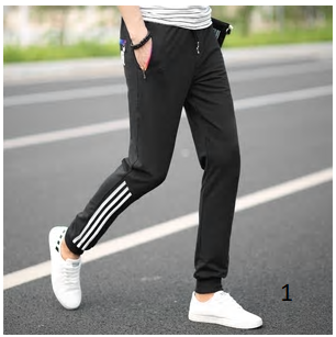 Spring Summer Mens Pants Fashion Skinny Sweatpants Mens Joggers Striped Slim Fit