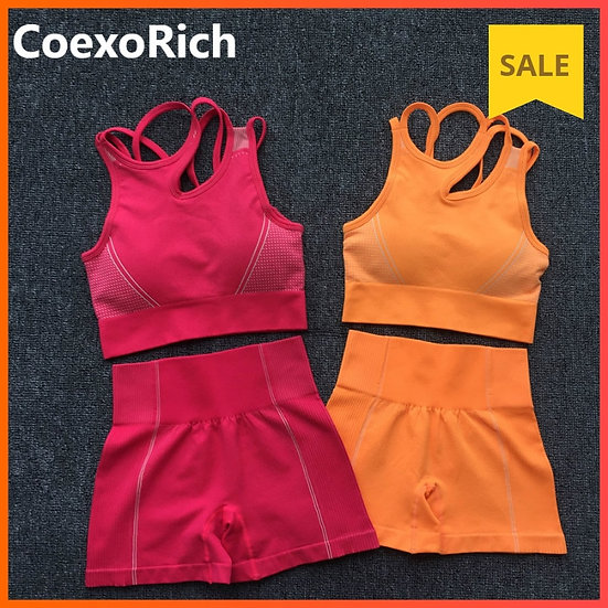Yoga Set Women Sleeveless Sport Suit Workout Gym Clothes Fitness Sports Bra High
