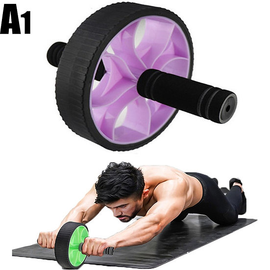 2020Muscle Exercise Equipment Home Fitness Equipment Double Wheel Abdominal Powe