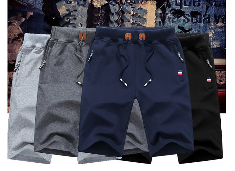 2020 Summer Casual Shorts Men Solid Breathable Elastic Waist Mens Beach Shorts C