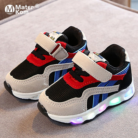 Size 21-30 Children's Led Shoes Boys Girls Lighted Sneakers Glowing Shoes for