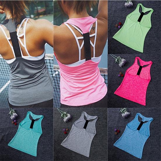 2019 Casual Womens Ladies Sleeveless Yoga Shirts Vest Tank Top Gym Running