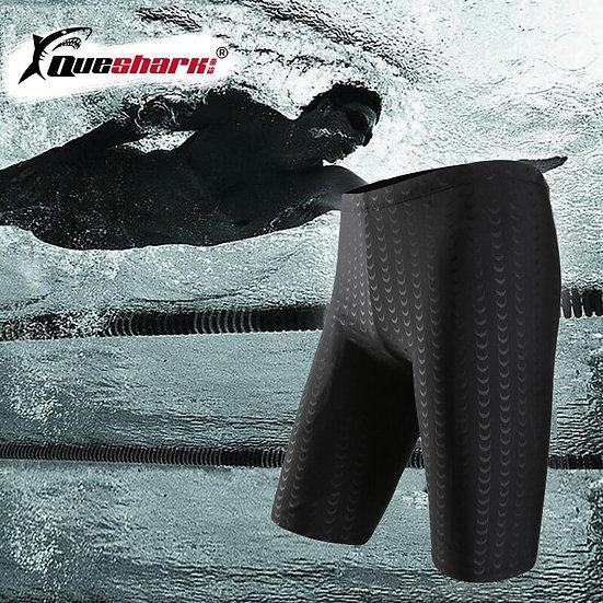 Queshark Water Repellent Men Swimwear Mens Swimming Trunks Shark Skin Swim Short