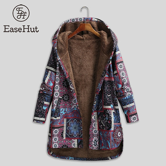 EaseHut Hooded Long Sleeve Floral Long Coat 2020 New Arrival Thin Spring Jackets