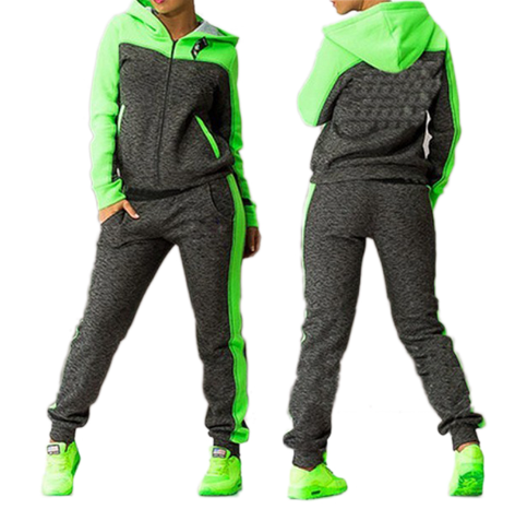 Women's Sports Suits Two piece Tracksuit Women Sportswear Winter Set Suit Hooded