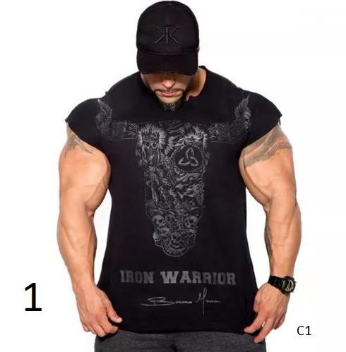 New Mens Gyms Fitness Bodybuilding Skinny T-shirt Summer Casual Fashion Pri