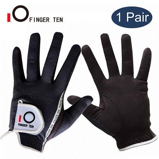 1 Pair Non-Slip Golf Gloves Men Left-Right-Hand for Golfer Fabric Grip Breathabl