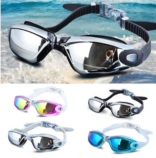 Electroplating UV Waterproof Anti fog Swimwear Eyewear Swim Diving Water Glasses