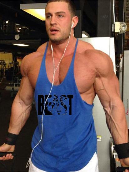 Fashion Workout Sports Shirt Fitness Top Men Gym Tank Top Clothing Mens Body