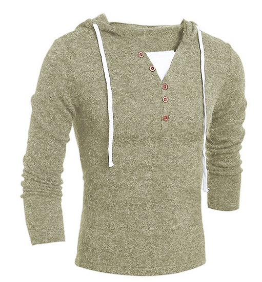 ZOGAA Brand Geek New Men's Sweaters Fashion Design Solid Hooded Knit Sweater Coa