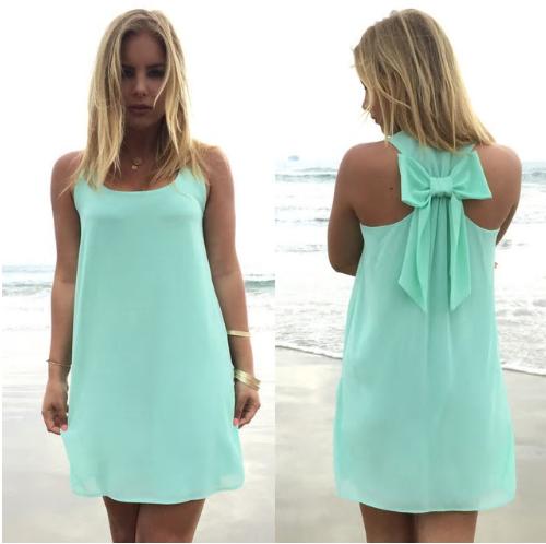 Summer dress women dress female summer style bow vestido de festa sundress