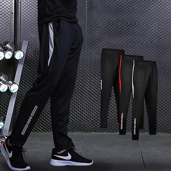 New Jogging Pants Men Breathable Sport Sweatpants Zip Pocket Training Pants Gym