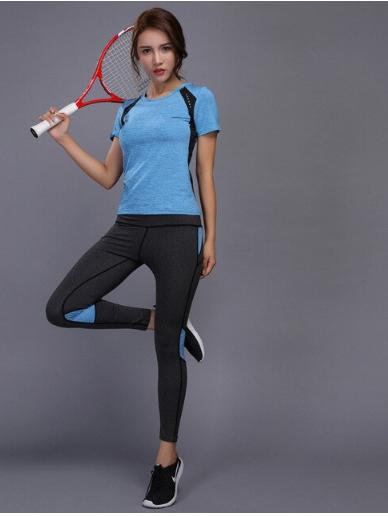 Women Gym Fitness Clothes Tennis Shirt+Pants Running Tights Jogging Workout Legg