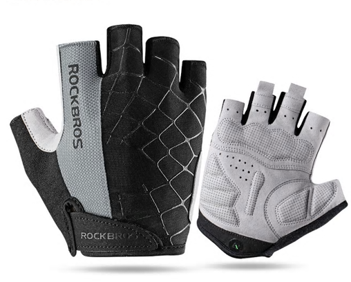 ROCKBROS Cycling Bike Half Finger Gloves Shockproof Breathable MTB Mountain Bicy