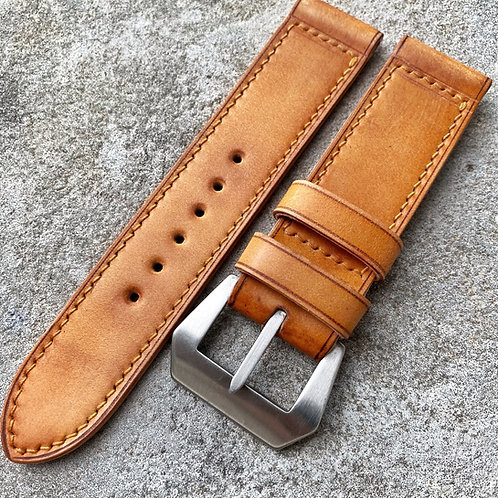 Bracelet cuir cordovan gold  24/24