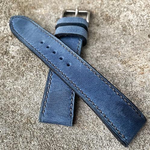 Bracelet 19/18 cuir us denim brut
