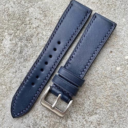 Bracelet 20/18 cuir italien marine  small
