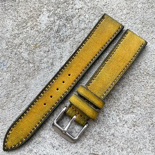 bracelet 18/16mm cuir us nubuck vintage
