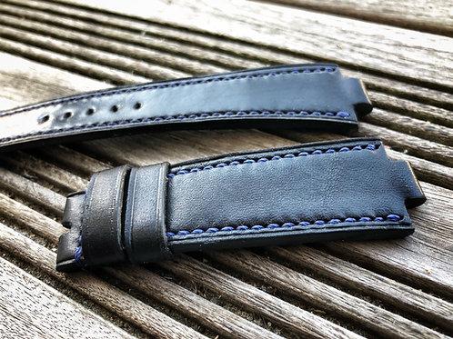 Bracelet cuir italien noir