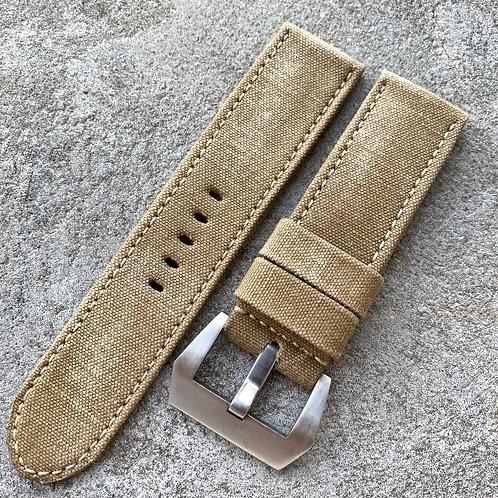 Bracelet 24/24 mm rolled canvas vintage olive