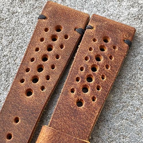 Bracelet rallye 20/16 mm cuir Us vintage brown