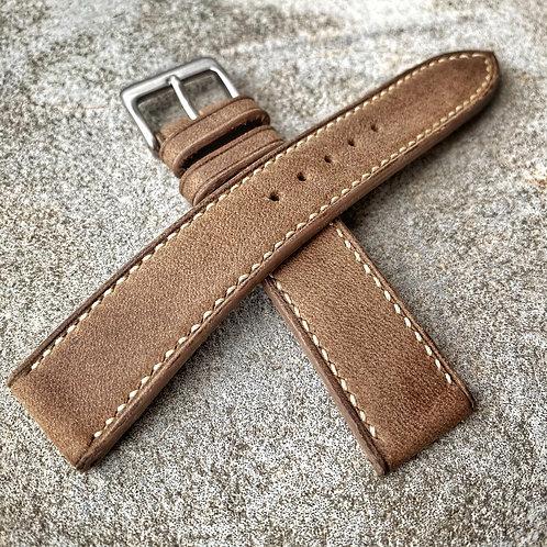 Bracelet 19/18 cuir veau taupe couture périphérique