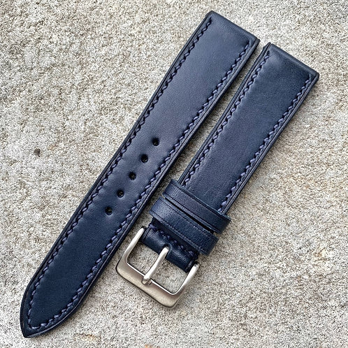 Bracelet 20/18 cuir italien marine