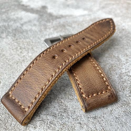 Bracelet 24/24 mm cuir US light brown